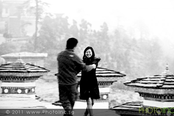 Overseas Pre-Wedding Photography to Bhutan by Singapore Photographer from PhotoInc